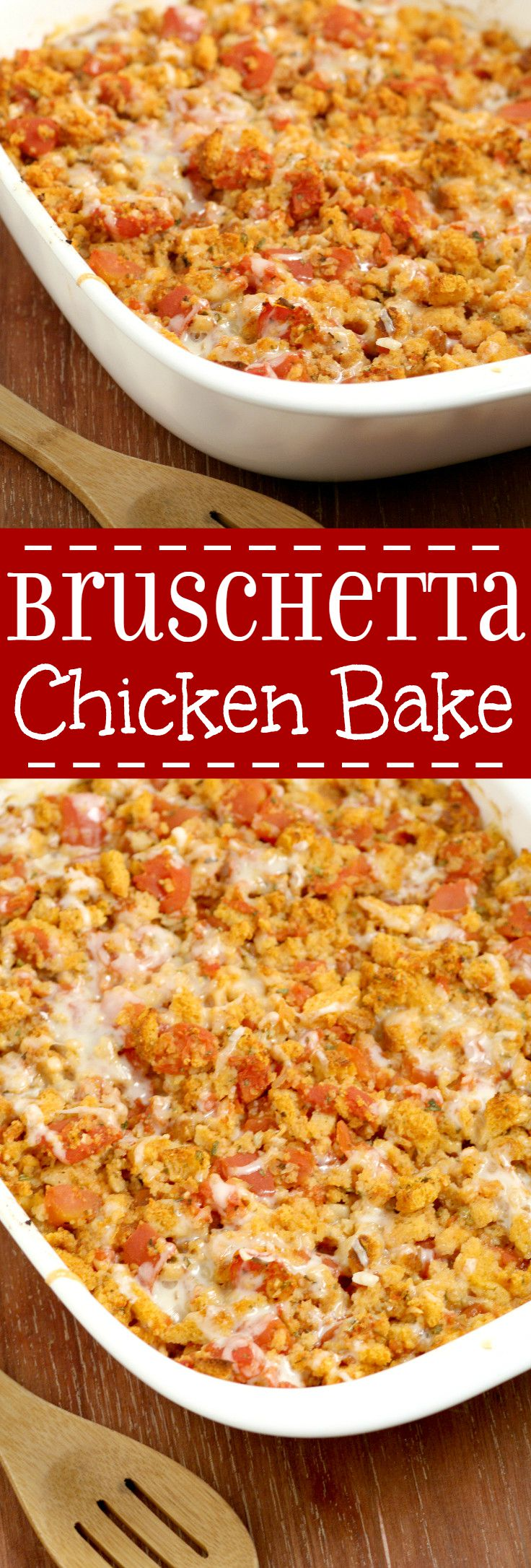 Bruschetta Chicken Bake is an easy family dinner recipe packed with ...