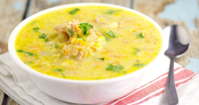 Cheddar Ham Chowder is a delicious and easy soup recipe with the classic combination of salty ham and gooey cheese, mixed together in a soup along with veggies and potato. Definitely one of my favorite soup recipes! Perfect comfort food with ham, cheese, and potatoes.