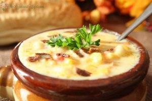 Southern Style Corn Chowder | From TheGraciousWife.com | A traditional southern-style soup. Packed with flavor (and bacon!) Perfect for a chilly evening!