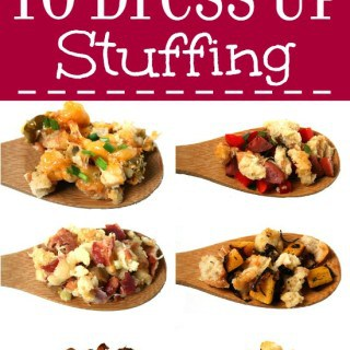 Make your Thanksgiving dinner extra fabulous with these 9 Easy Add-Ins for Stuffing, plus a delicious traditional stuffing recipe. Also works for boxed stuffing! This is great for Thanksgiving side dishes recipes. Plus you just bake it like you would a casserole, so it's super easy! Loving the cheesy ones!