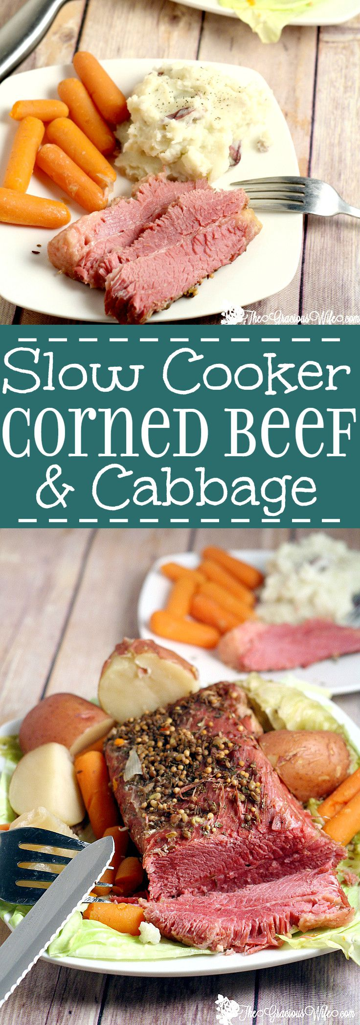 Slow Cooker Corned Beef and Cabbage is the perfect traditional dish to ...