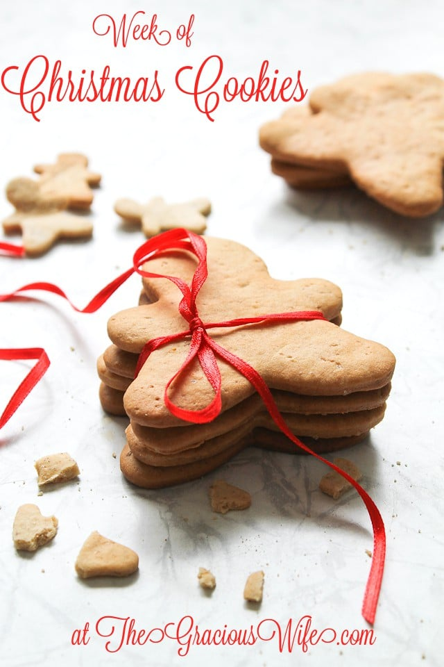 It's a week full of Christmas cookies recipes at TheGraciousWife.com!  Find all your holiday recipes here!