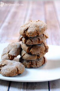 Classic gingersnaps are a holiday hit and a family favorite. Find more during our Week of Christmas Cookies Recipes. From TheGraciousWife.com #Christmas #Cookies