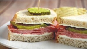 Dill Pickle Ham Sandwiches are a spin-off of the ham, cream cheese, and dill pickle roll up appetizers, that makes it okay to eat this tastiness every day, instead of just a holiday or party!