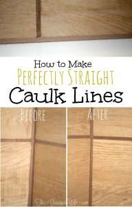 How to Make Perfectly Straight Caulk Lines | From TheGraciousWife.com