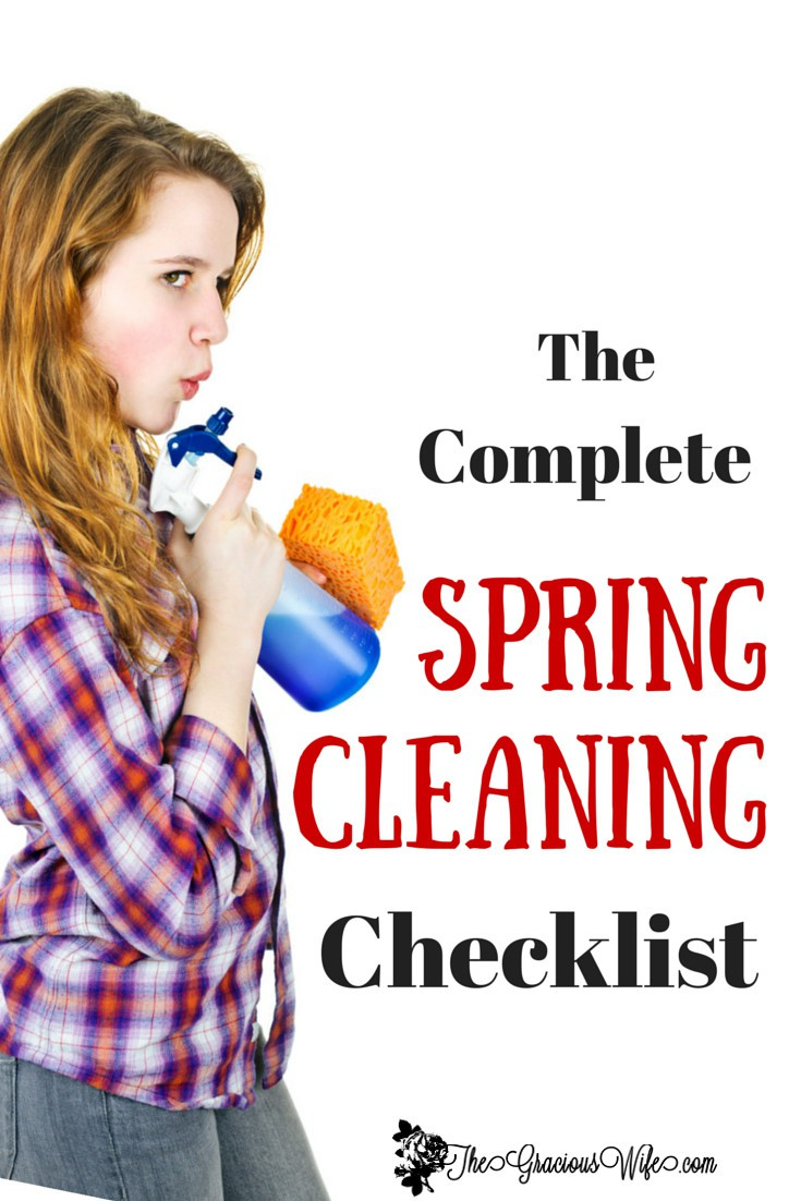 The Complete Spring Cleaning Checklist - Spring clean every room of your house from top to bottom with this complete cleaning checklist.