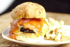 Pepperoni Pizza CheeseburgerRecipe - easy dinner idea recipe perfect for summer and grilling for the whole family. A fun twist on your traditional hamburgers with tasty ingredients including pepperoni, pizza sauce, Italian seasonings, and lots of gooey, melty cheese. Oh my! These sound amazing!
