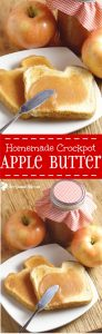 Homemade Crockpot Apple Butter Recipe - An easy, healthy crockpot breakfast recipe. I love apple butter for breakfast on toast! Such a cheap but delicious meal!