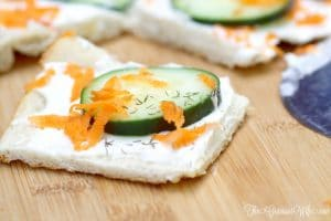 Cucumber Patio Pizza Recipe - creamy, delicious cucumber recipes that's great for an appetizer recipe or a snack recipe! My kids love this! Awesome way to get them to eat some extra veggies!