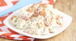 Creamy Coleslaw Recipe with Bacon - an easy Summer salad and side dish ...
