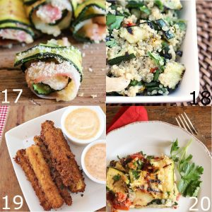 Over 40 easy and Simple Zucchini Recipes perfect for using up your garden fresh zucchini this Summer. From sweet to savory and cheesy to fresh, this simple zucchini recipes list has it all!