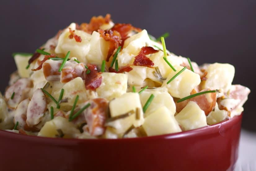 Creamy Slow Cooker Potatoes with Sausage and Chives 3