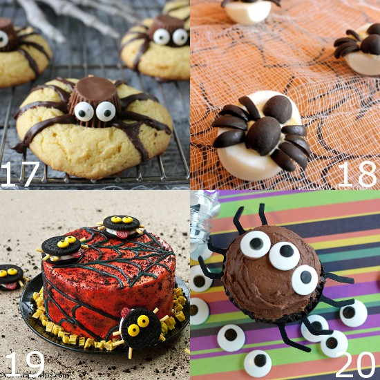 Adorable, fun, spooky, and especially tasty Halloween Spider treats perfect for kids and parties. From sweet to savory these Halloween Spider Treats have it all. Cute Halloween food ideas for kids! I'm so making some of these recipes for the kids Halloween party this year.