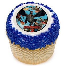 How to Train Your Dragon cupcake topper