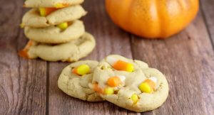 Peanut Butter Candy Corn Cookies take the rich creaminess of peanut butter and combine it with the vanilla and honey sweetness of classic candy corn to make a perfect and delicious Fall and Halloween treat for kids, party, and everyone!