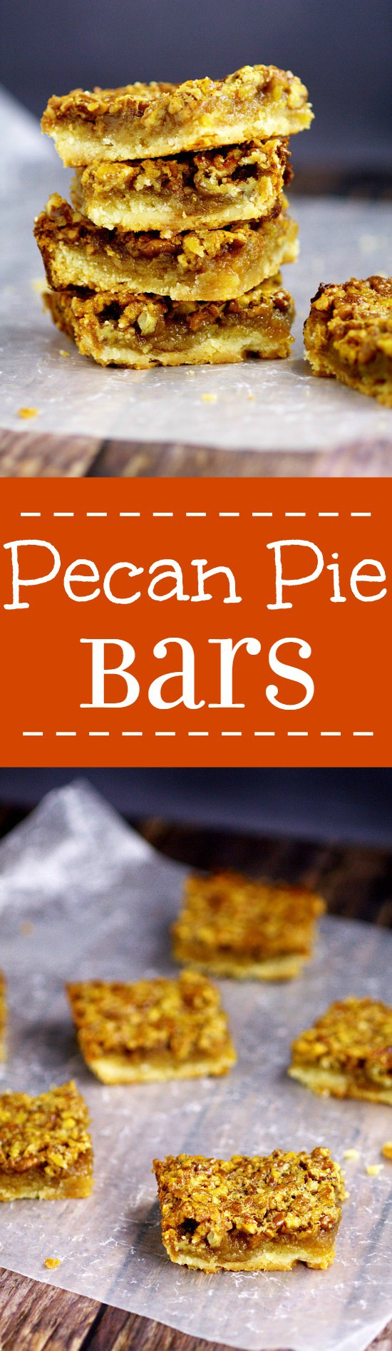 Southern Pecan Pie Bars recipe with a soft crust and classic pecan pie filling come together to make one sweet, gooey, heavenly dessert recipe that will be the highlight of your feast!  Pecan Pie Bars would be an amazing dessert recipe for Thanksgiving and Christmas too!