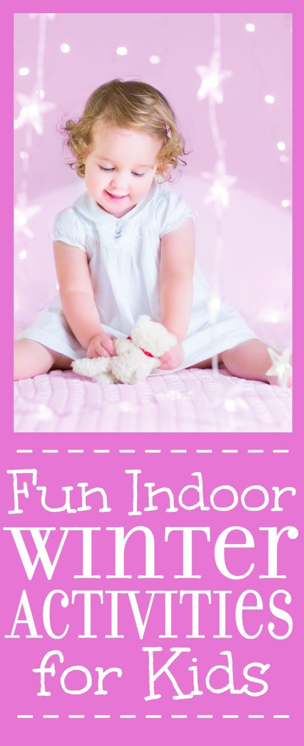 25 Fun Indoor Winter Activities for Kids to beat winter boredom and cabin fever.Kids can get a little stir crazy when they're stuck indoors for the winter. Keep your kids happy and occupied with these Fun Indoor Winter Activities for Kids that the whole family will love. Great ideas!