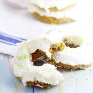 Baked Carrot Cake Donuts