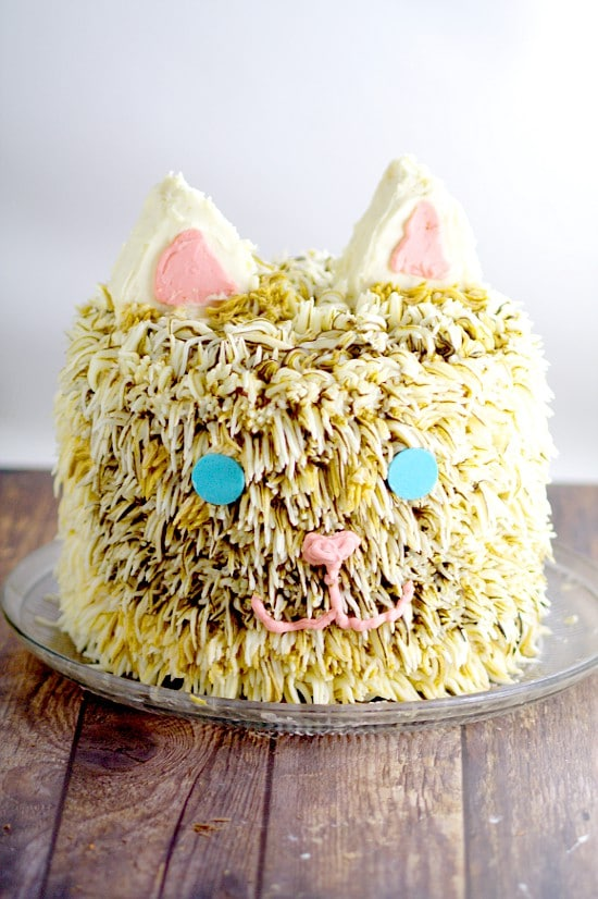 Kitty Cat Birthday Cake tutorial. An amazing but simple Kitty Cat Birthday Cake tutorial that looks seriously impressive, but is really easy to make. Perfect for the kitty cat lover in your life. Oh my goodness! My daughter would love this!