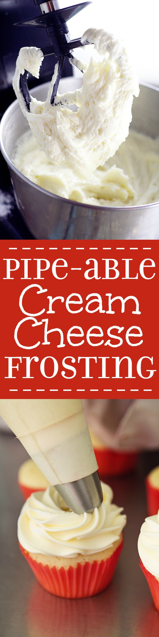 Pipeable Cream Cheese Frosting Recipe. The perfect Pipeable Cream ...