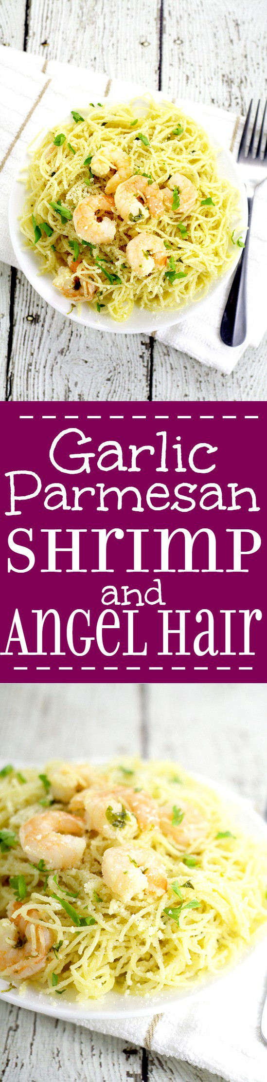 Garlic Parmesan Shrimp and Angel Hair pasta makes a delicious family meal. Juicy shrimp with garlic, butter, and Parmesan cheese adorn a hearty helping of angel hair pasta in this 30 minute Garlic Parmesan Shrimp and Angel Hairdinner recipe.