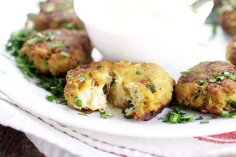 Savory Lump Crab Cakes recipe with very little filler and bursting with flavor are pan-fried in butter to golden perfection.  These look sooo good.  Would make a tasty appetizer idea too!