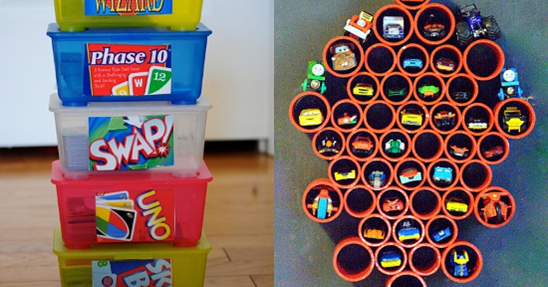 DIY Toy Organization Ideas for Kids and Playrooms - Don't let the toys take over! Organize your kids' playroom with these clever DIY Toy Organization Ideas for kids' bedrooms and playrooms. Love this! We need this so bad!