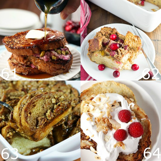 64 Unique French Toast Recipes to make your favorite breakfast even more delicious.  Over 60 amazing and Unique French Toast Recipes including sweet overnight casseroles, stuffed french toast, and more.  These variations are a great way to make an old favorite even more delicious!
