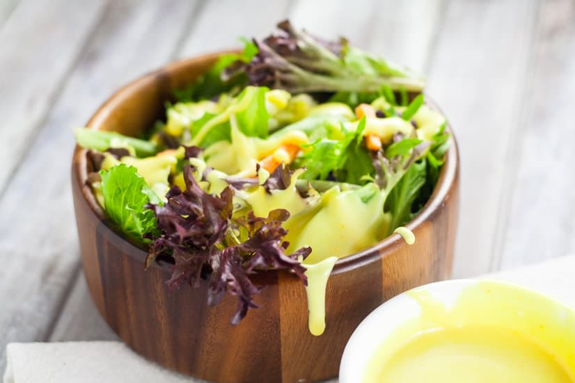 Homemade Honey Mustard Dipping Sauce and Salad Dressing recipe -Creamy, sweet, and tangy, this Homemade Honey Mustard Dipping Sauce will be your new favorite go-to sauce and dressing for EVERYTHING. This is so good. I absolutely LOVE dipping my chicken in it.