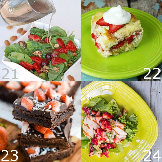 112 Fresh Strawberry Recipes -Enjoy fresh, juicy strawberries with these delicious Fresh Strawberry Recipes. Over 100 recipes to use up your favorite juicy berries, including breakfast, snacks, and dessert.