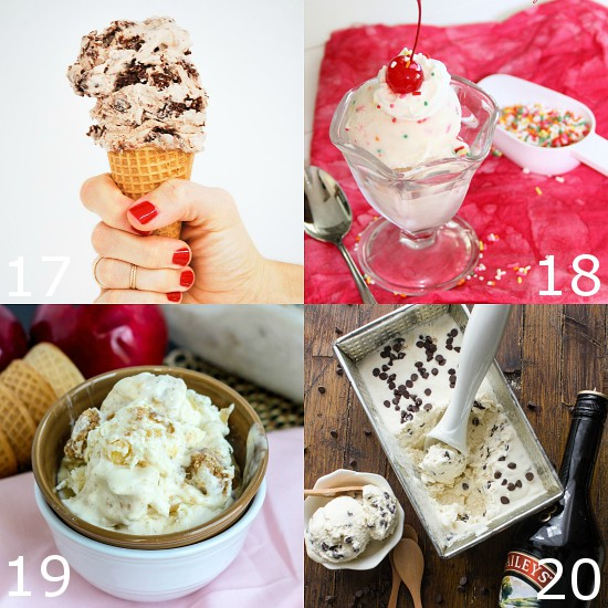 80 Homemade Ice Cream Recipes - Indulge your sweet tooth and beat the heat this Summer with 80 of the BEST Homemade Ice Cream recipes! From fruity or tangy, to chocolate and sweet, there's a little something for everyone here! You don't even need an ice cream maker for most of these! No churn ice cream is the way to go!
