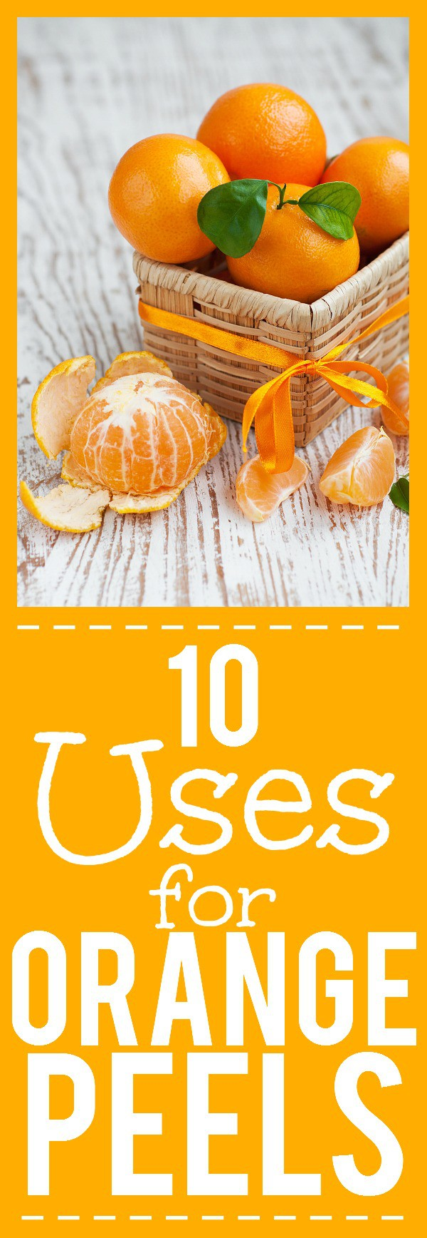 5 Surprising Uses for Orange Peels - Don't throw out your orange rinds! Orange peels have so many uses and you can save money and use the whole fruit with these clever and surprising Uses for Orange Peels. Wow! These are great ways to stay frugal in the kitchen and all around the home!