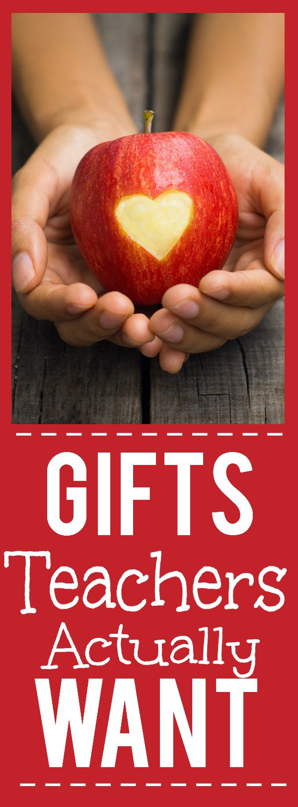 Gift Ideas for Teachers that they'll actually want! Show your child's teacher they are truly valued and appreciated in a practical way that they'll love with these ideas for Gifts Teachers Actually Want. Great for a back to school gift or as an end of the year teacher gift ideas! From a family of teachers!