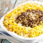 Sloppy Joe Mac and Cheese recipe makes a quick and easy family dinner recipe. Creamy, cheesy mac and cheese combined with tangy and sweet beef sloppy joe in this Sloppy Joe Mac and Cheese recipe to make an ultimate comfort food dinner. Oh. My. Yum! Fabulous!