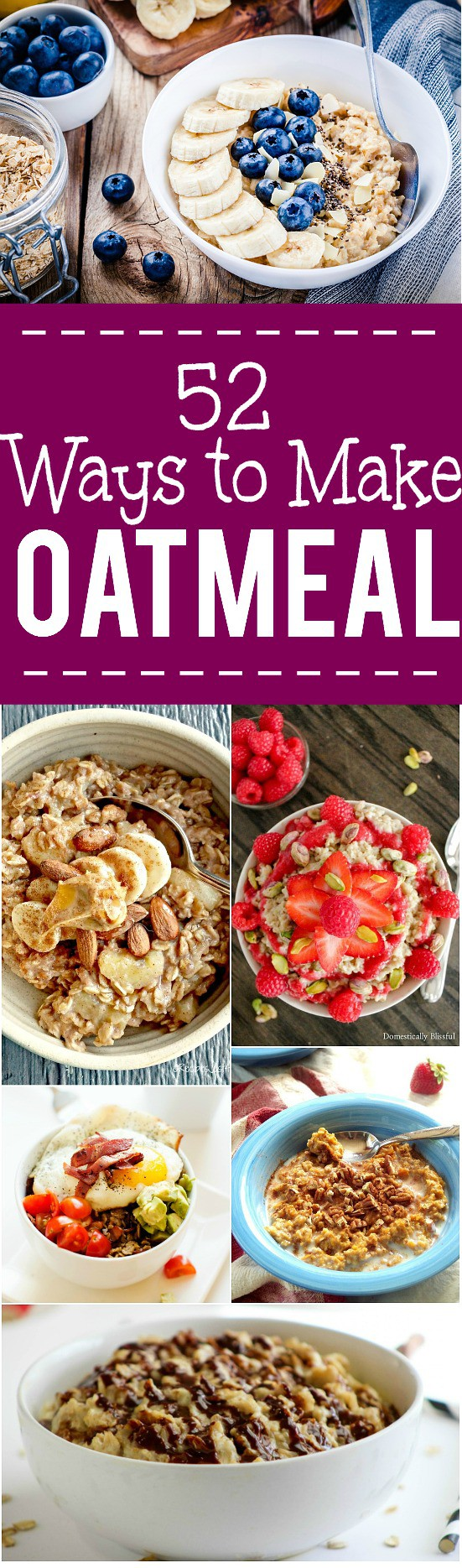 52 Breakfast Oatmeal Recipes - Over 50 new and delicious ways to eat your favorite breakfast! Try these BEST breakfast oatmeal recipes for a delightfully yummy reason to wake up in the morning. YES! I love oatmeal! It's really the perfect breakfast!