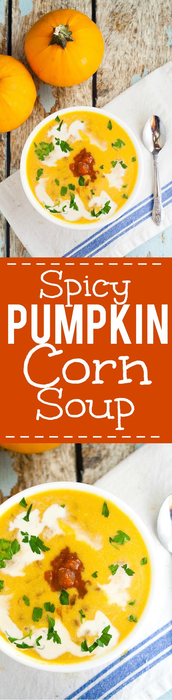 Savory Spicy Southwest Pumpkin Soup Recipe -Just in time for pumpkin season, this Spicy Southwest Pumpkin Soup recipe is a delicious savory alternative to traditional pumpkin spice that is a quick, easy and healthy pumpkin soup recipe. Pumpkin! This looks fabulous! And soooo easy!