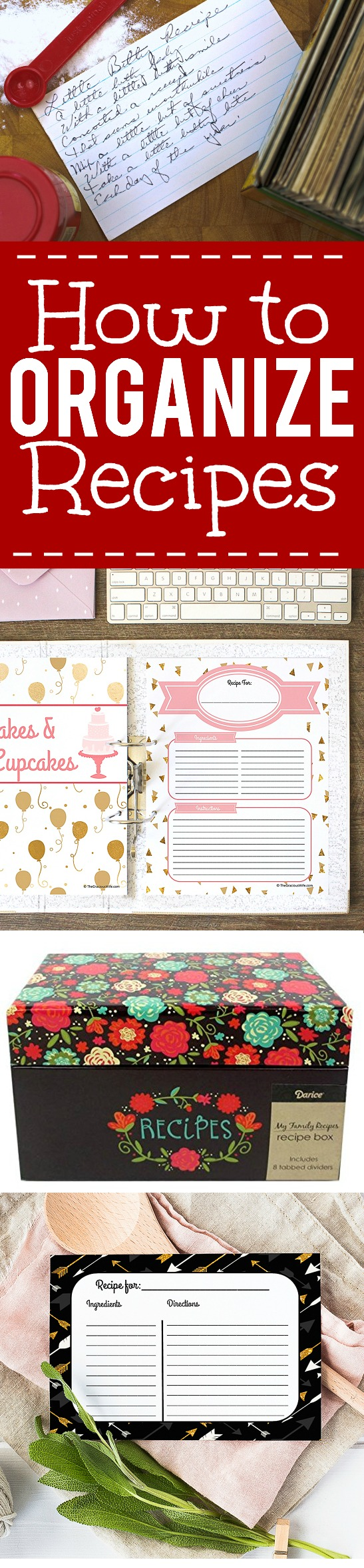 How to Organize Recipes with 10 easy tips and tricks -Make sure you can always find the recipe you need! Learn your own favorite recipe organization tricks with these 10 easy ways to organize recipes! | organization