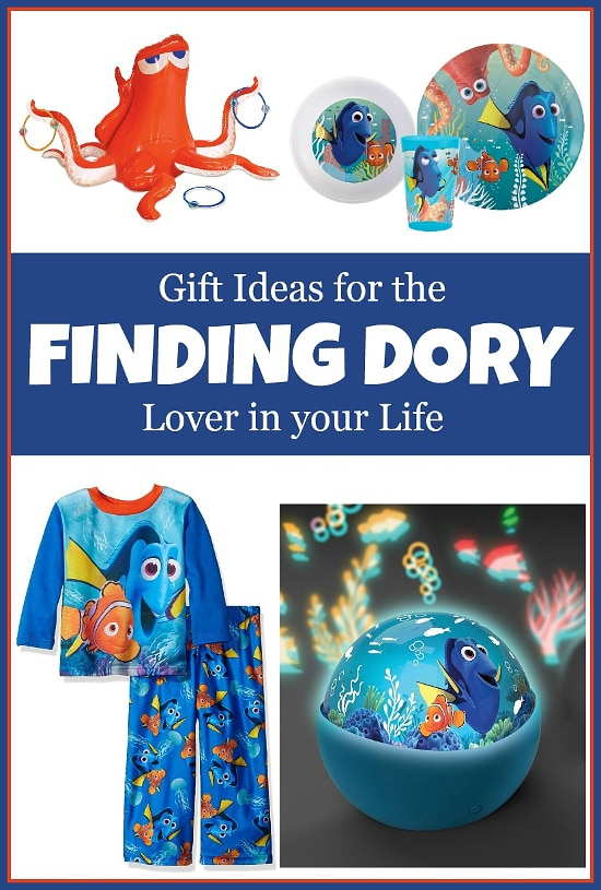 15 Finding Dory Gift Ideas - Finding Dory Gift Guide with 15 adorable and fun Finding Dory Gift Ideas that are perfect for the Finding Dory fan in your life. Perfect gift ideas for kids for Christmas and birthdays!