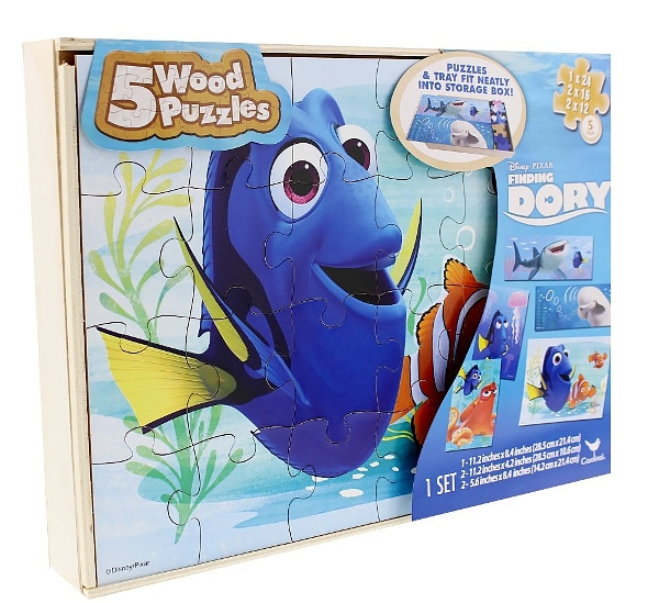 Finding Dory Wood Puzzle Set - 15 Finding Dory Gift Ideas - Finding Dory Gift Guide with 15 adorable and fun Finding Dory Gift Ideas that are perfect for the Finding Dory fan in your life. Perfect gift ideas for kids for Christmas and birthdays!