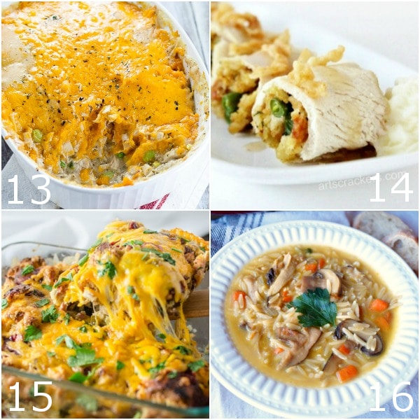 40 Leftover Turkey Recipes to use up your Thanksgiving leftovers -Try these 40 amazing, delicious leftover turkey recipes to use up your leftover turkey from the holidays. Soups, stews, casseroles, and more. Find your new favorite way to eat leftovers here!