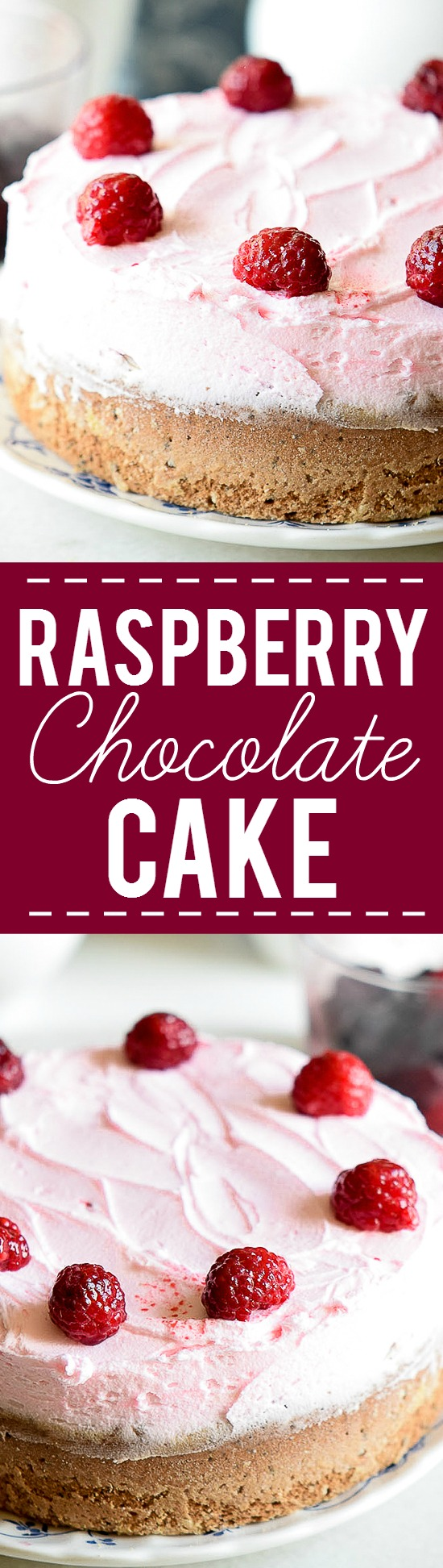 Raspberry Chocolate Cake recipe -Rich, decadent chocolate cake with a creamy, tangy raspberry buttercream make this Raspberry Chocolate Cake recipe a heavenly, to-die-for dessert indulgence.