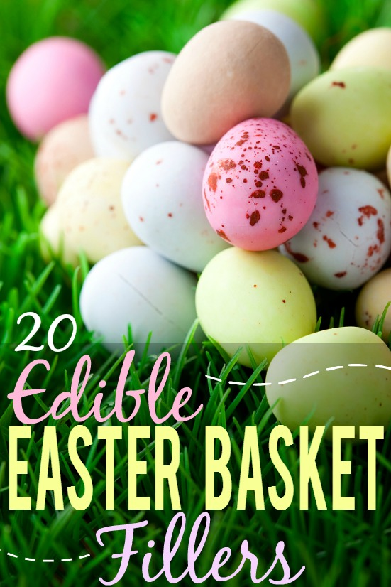 20 Edible Easter Basket Fillers ideas for kids - Fill your Easter baskets with a variety of goodies this year with these 20 Edible Easter Basket Fillers ideas that are perfect for kids!