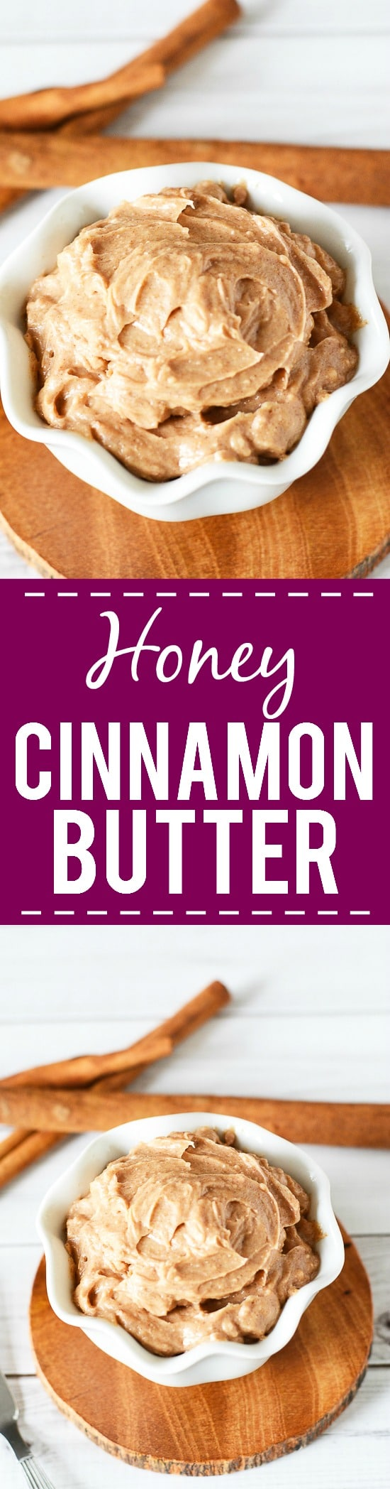 Honey Cinnamon Butter Recipe - What could be better than butter, you ask? This sweet, warm Honey Cinnamon Butter with just 4 ingredients that you can whip up in just 10 minutes! Put it in a mason jar for a super yummy DIY gift idea!