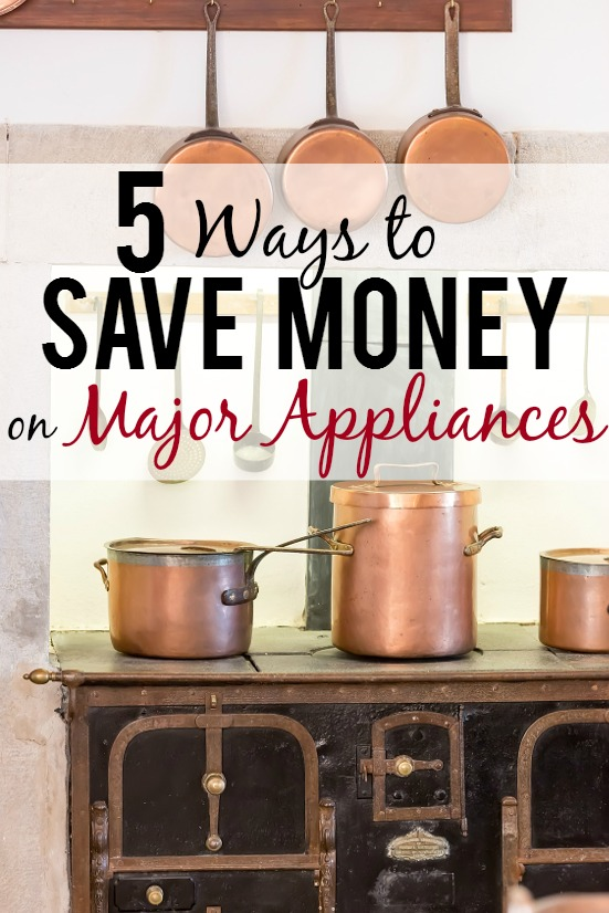 5 Ways to Save Money on Major Appliances -Thinking about new appliances? Use these 5 simple and easy ways to save money on major appliances to help you save on your next appliance purchase! Frugal living - budget