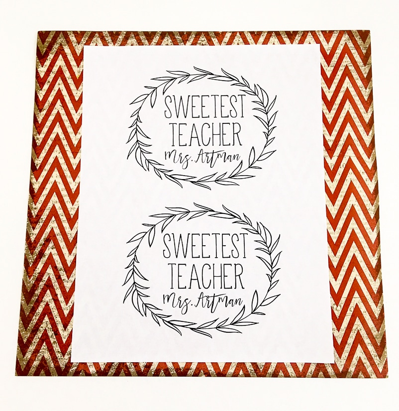 DIY Sweetest Teacher Gift idea - Thank your favorite teacher with this easy, cute, and frugal DIY Sweetest Teacher Gift idea that's simple to make and sure to make her smile! Easy and cheap DIY teacher gift idea