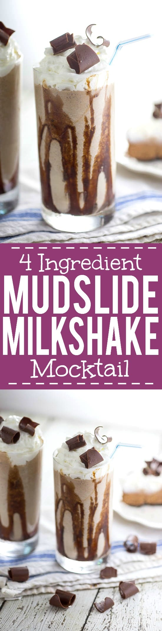 Mudslide Shake Recipe -Calling all chocolate lovers! Everyone who loves chocolate will adore this quick and easy Mudslide Shake recipe! Make it in just 10 minutes with 4 ingredients! Yum!