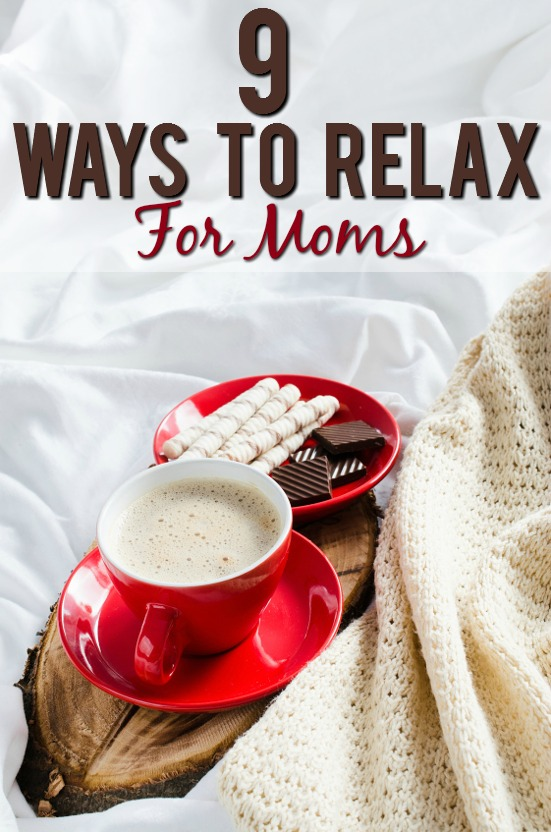 9 Ways Mom Can Relax - Being a mom can be stressful.  Sometimes it seems like you have to do it all, when all you really need is a break. Feel more calm and like yourself with these 9 easy ways moms can relax. Parenting Tips