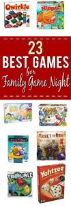 23 Best Games for Family Game Night - Make your family game night the best ever with these 23 Best Games for Family Game Night. The whole family will these fun games, and a chance to spend time together! Parenting Tips