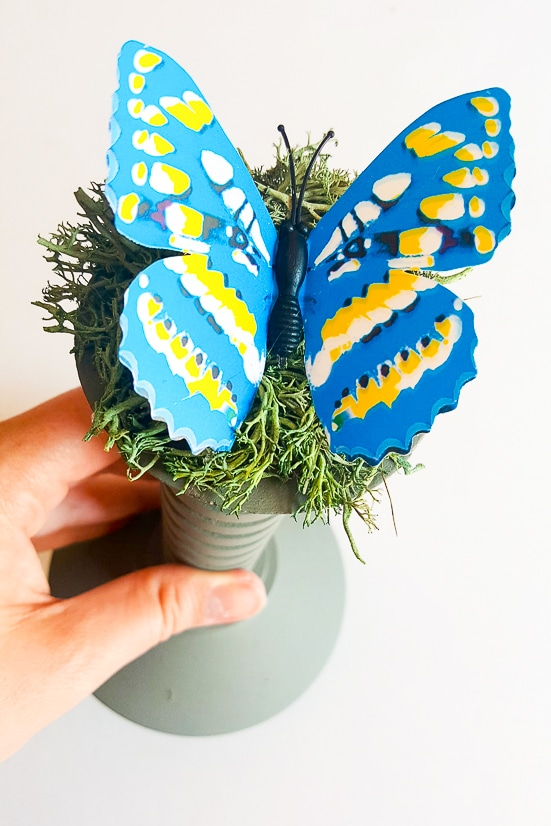 DIY Steampunk Butterfly Decor - Make this unique and pretty DIY Steampunk Butterfly Decor project with just a few simple supplies, including some vintage finds from your local thrift store.