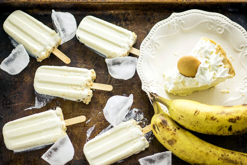 Banana Cream Pie Popsicles Recipe -Taking Banana Cream Pie to the next level, these Banana Cream Pie Popsicles will keep you cool and satisfied on a hot summer day. Just 4 ingredients to make this quick and easy popsicle recipe!